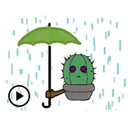 Animated Cactus Sticker