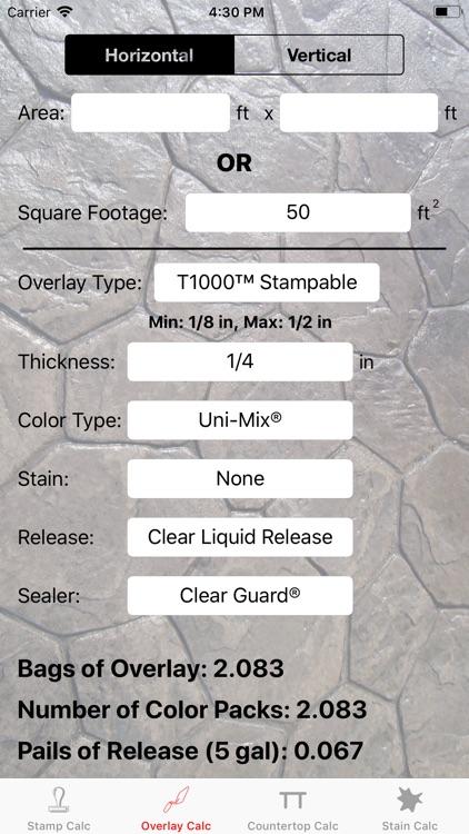Stamp Concrete Calculator