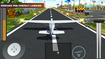 Plane Landing Simulator Screenshot on iOS