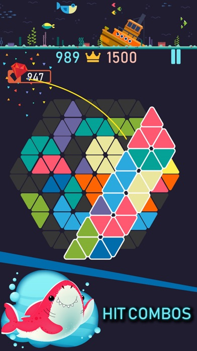 Trigon : Triangle Block Puzzle Screenshot 2