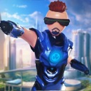 Stickman Iron Robot Superhero