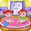 安娜照顾双胞胎宝宝-益智早教教育游戏