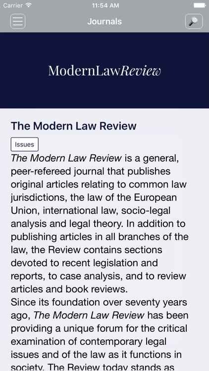 The Modern Law Review