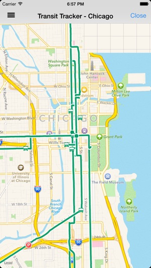 Transit Chicago Map.Transit Tracker Chicago On The App Store