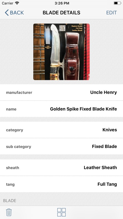 BladeCache: Knives & Swords