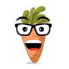 Cute Carrot Emoji Sticker
