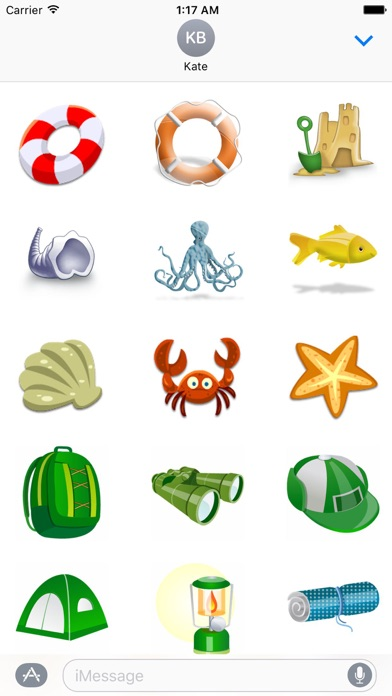 Summer And Beach Icon Sticker Screenshot