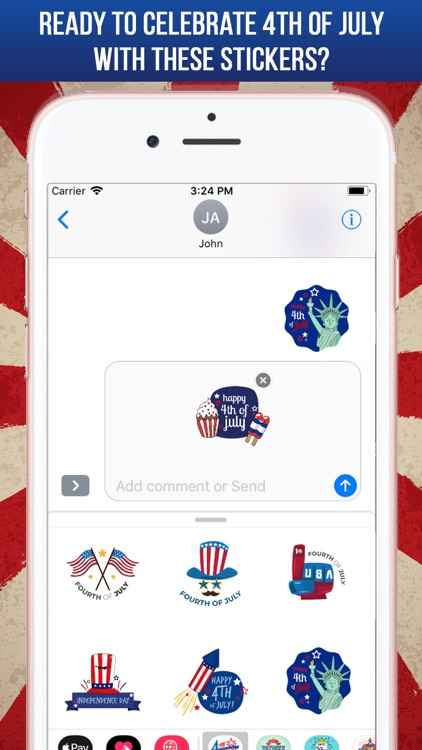 4th Of July Greeting Stickers screenshot-4