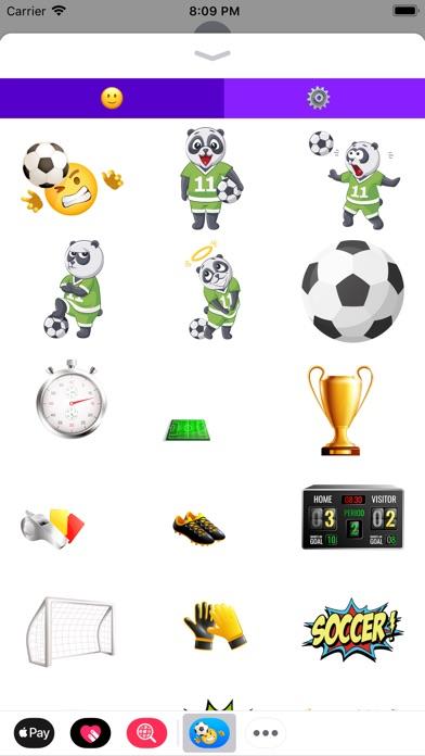 Футбол Emoji наклейки Скриншоты3