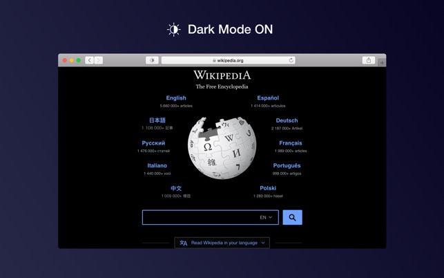 Dark Mode For Safari On The Mac App Store