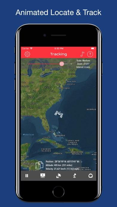ISS Real-Time Tracker Screenshot