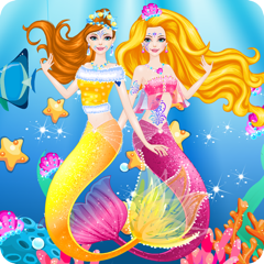 Mermaid Dress Up and Hairstyle