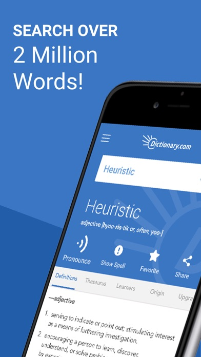 Dictionary.com Pro Learn Words Screenshot