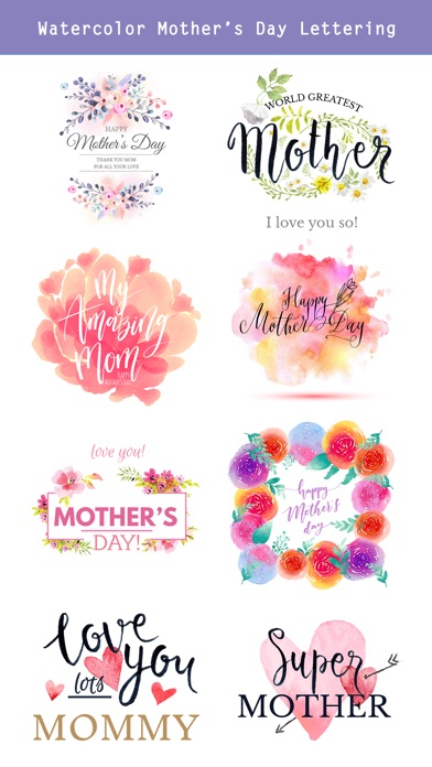 Watercolor Mother's Day Pack screenshot 3