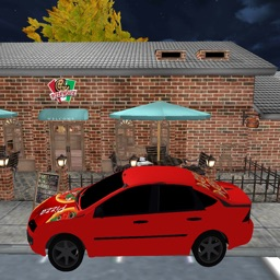 City Pizza Delivery Car Drive