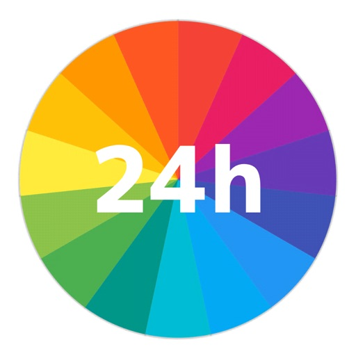 一日予定表: 1日のスケジュールを24時間の円グラフで管理