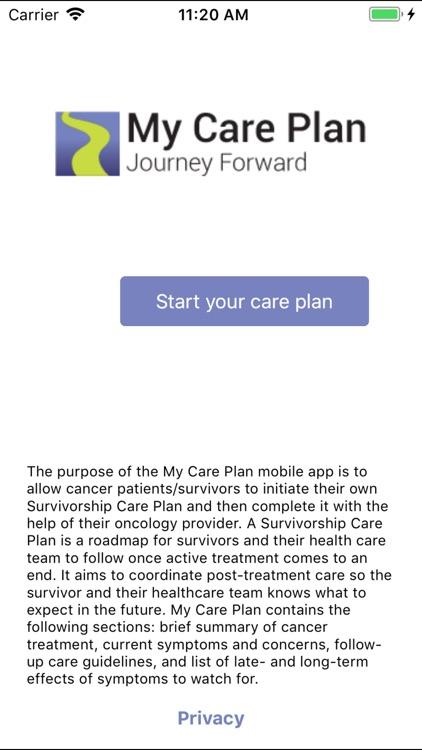 My Care Plan-cancer survivors