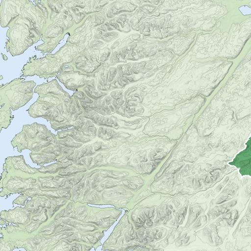 Ben Nevis, West Scotland Map