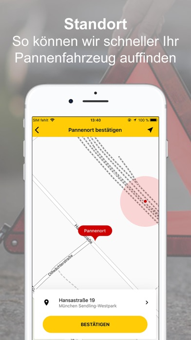Screenshot for ADAC Pannenhilfe in Germany App Store