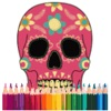 Skull Pixel Coloring Art
