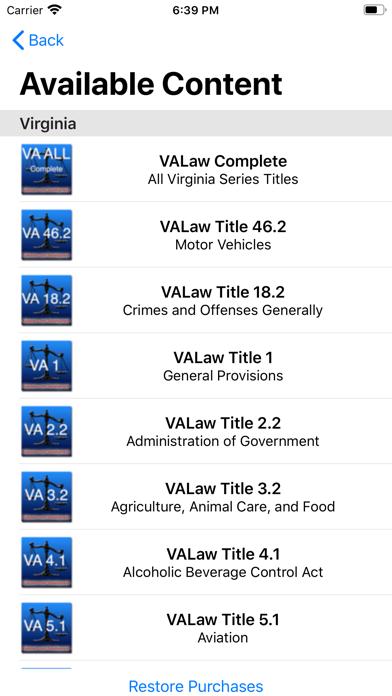 State Statute & Federal Law Screenshot