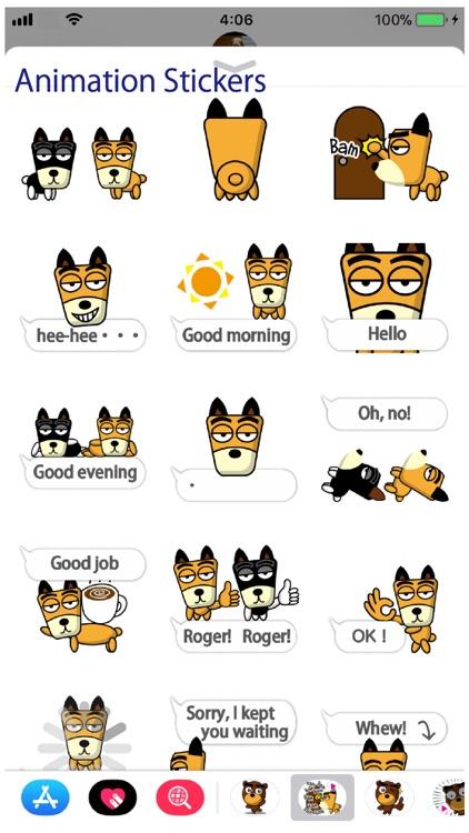 TF-Dog Animation 2 Stickers