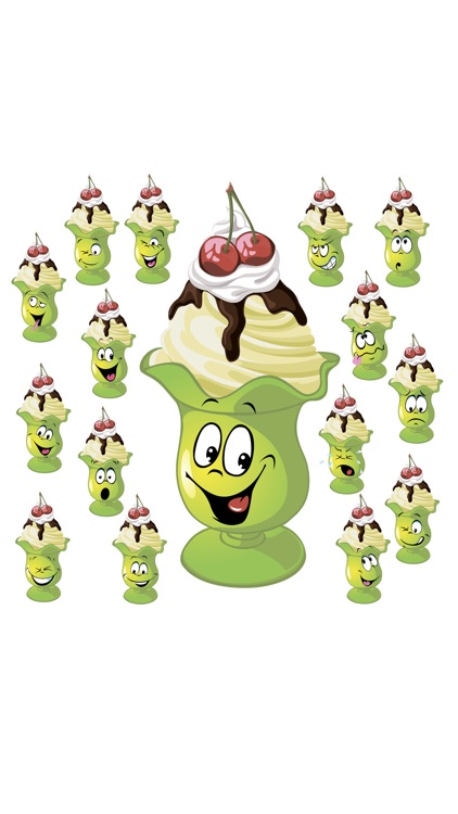 Ice cream SP emoji stickers screenshot-2