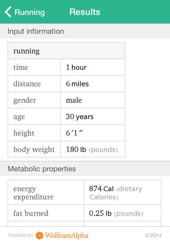 Wolfram Personal Fitness Assistant App - náhled