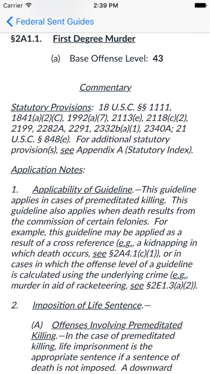 Federal Sentencing Guidelines 2017