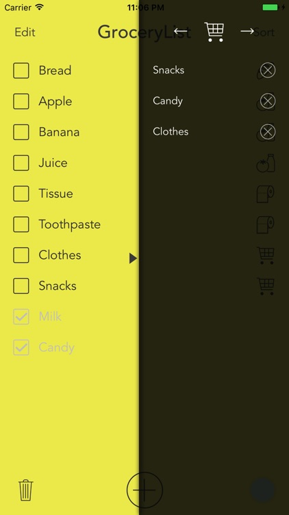 Grocery List - A Simple Grocery List