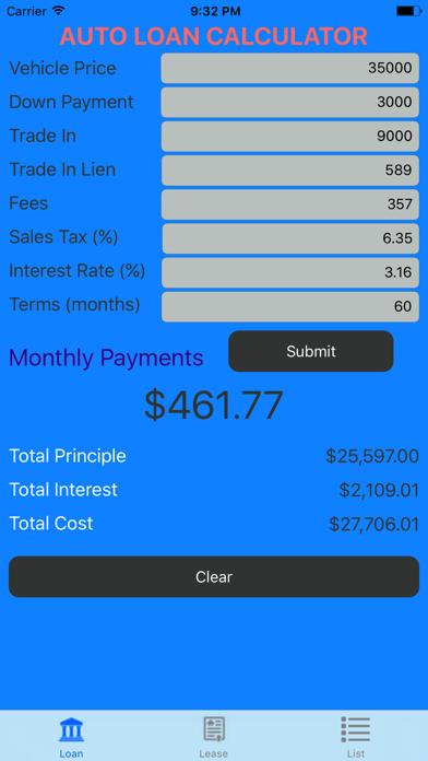 Car Loan Calculator App >> Car Loan Calculator Auto Loan Lease Calculator App Price Drops