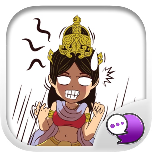 Lady isan old old Stickers for iMessage