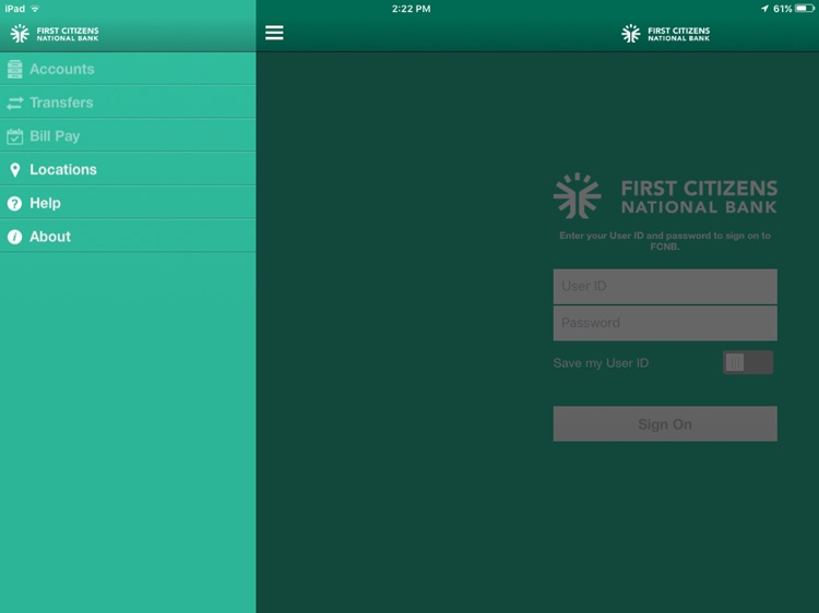 FirstCNB for iPad