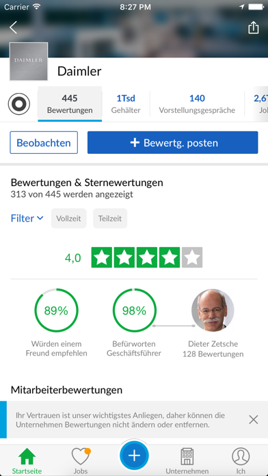 Glassdoor - JobsucheScreenshot von 2