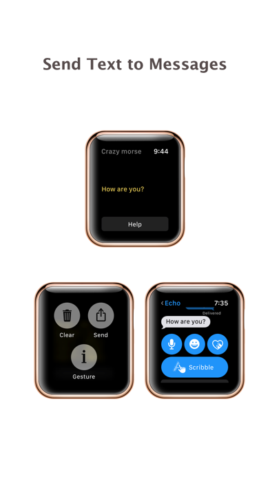 Crazy Morse Code - quick typing for apple watch screenshot two