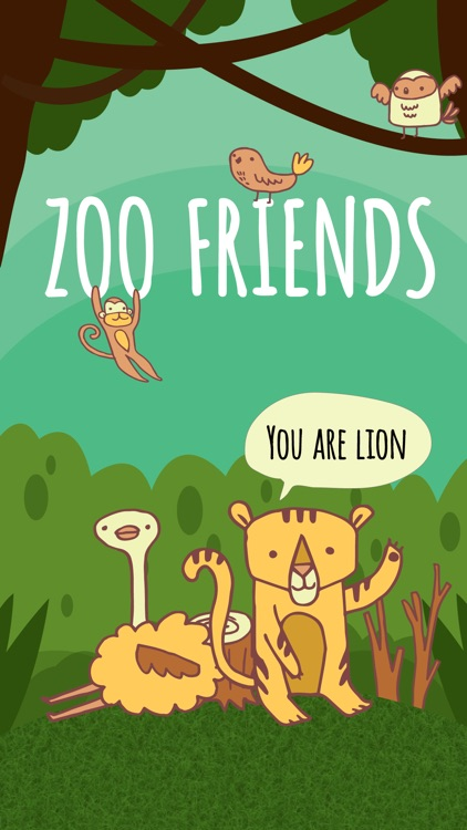 Zoo Friends - Fun Animal Puns with Speech Bubbles