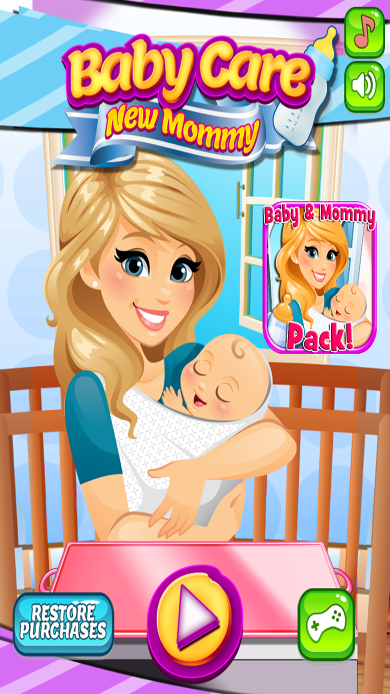 My Newborn Baby & Mommy Care:  Pregnancy Games Screenshot