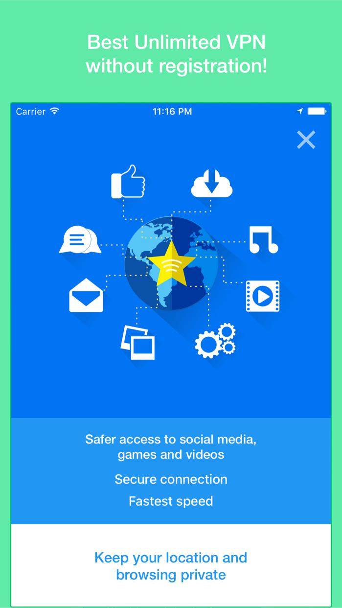 Star VPN - Unlimited VPN Proxy Screenshot