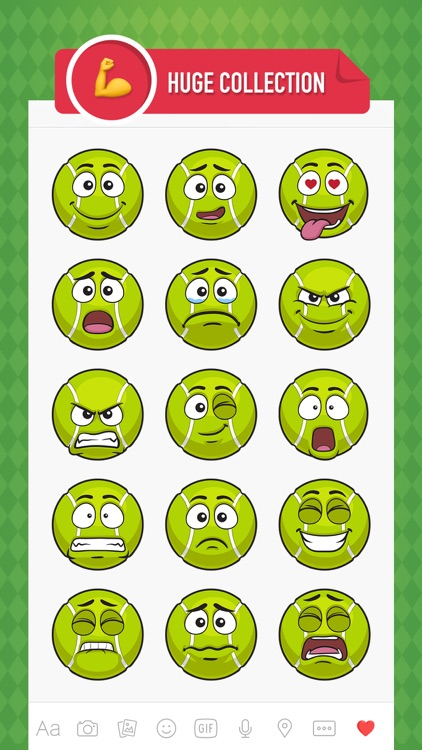 TennisMoji - tennis emoji & stickers keyboard app screenshot-1