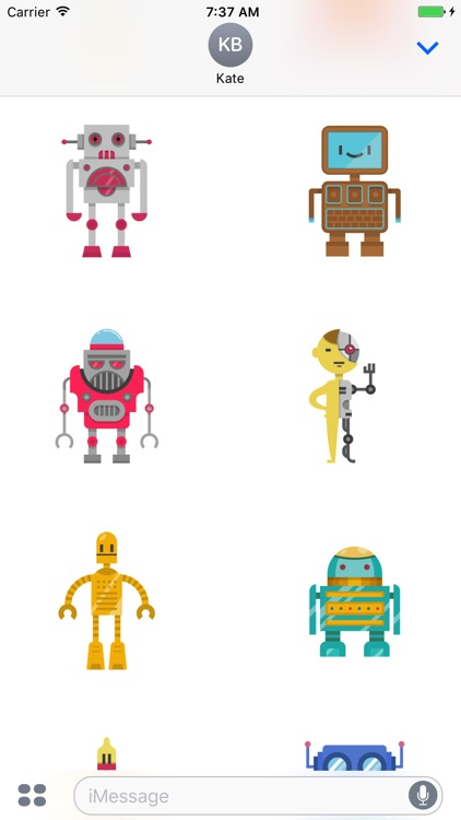Robots - Cute Colorful Stickers