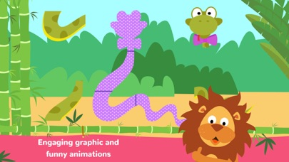 Fun Jungle Animals - Puzzles and Stickers for Kids screenshot one