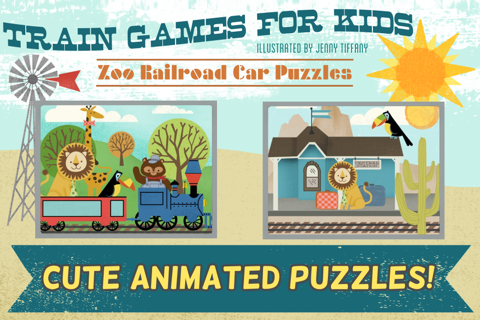 Train Games for Kids: Zoo Railroad Car Puzzles - náhled