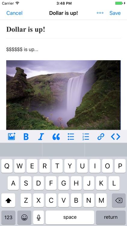App for Google Blogger