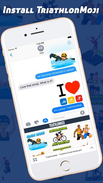 TriathlonMoji - Triathlon Emoji Keyboard