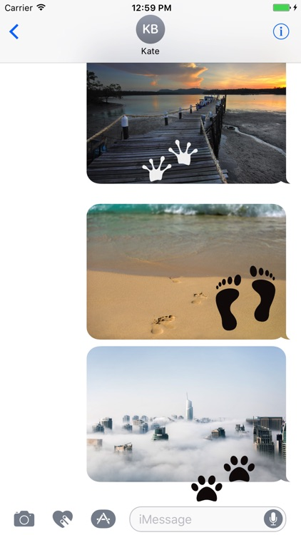 Animated Cute Footprint Stickers