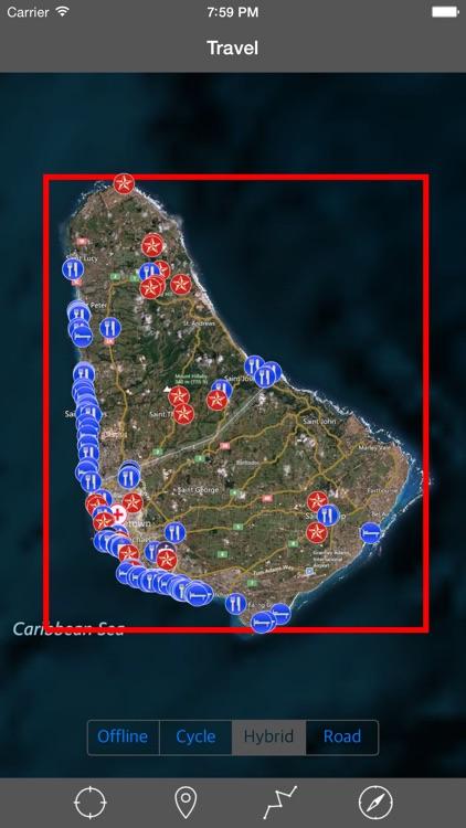 BARBADOS – GPS Travel Map Offline Navigator