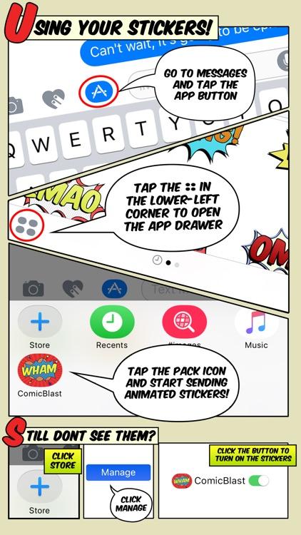 Comic Blast Animated Stickers screenshot-4