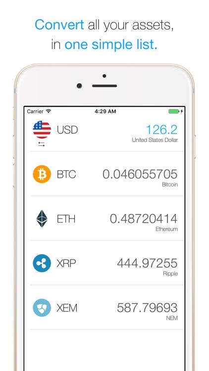 Conv - Crypto Converter for Bitcoin & Altcoins