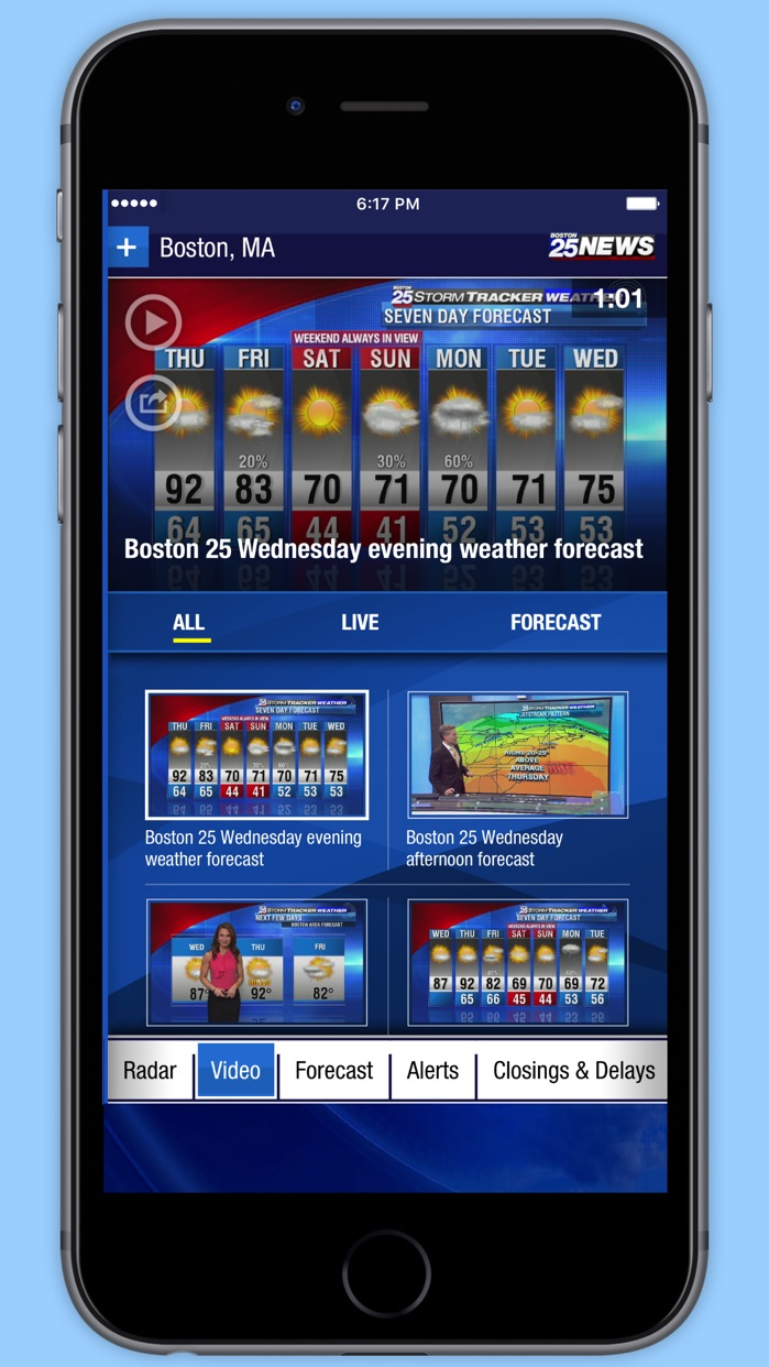 Boston 25 StormTracker Weather- Radar, Forecast Screenshot