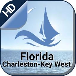 Florida Charleston - Key West offline nautical map